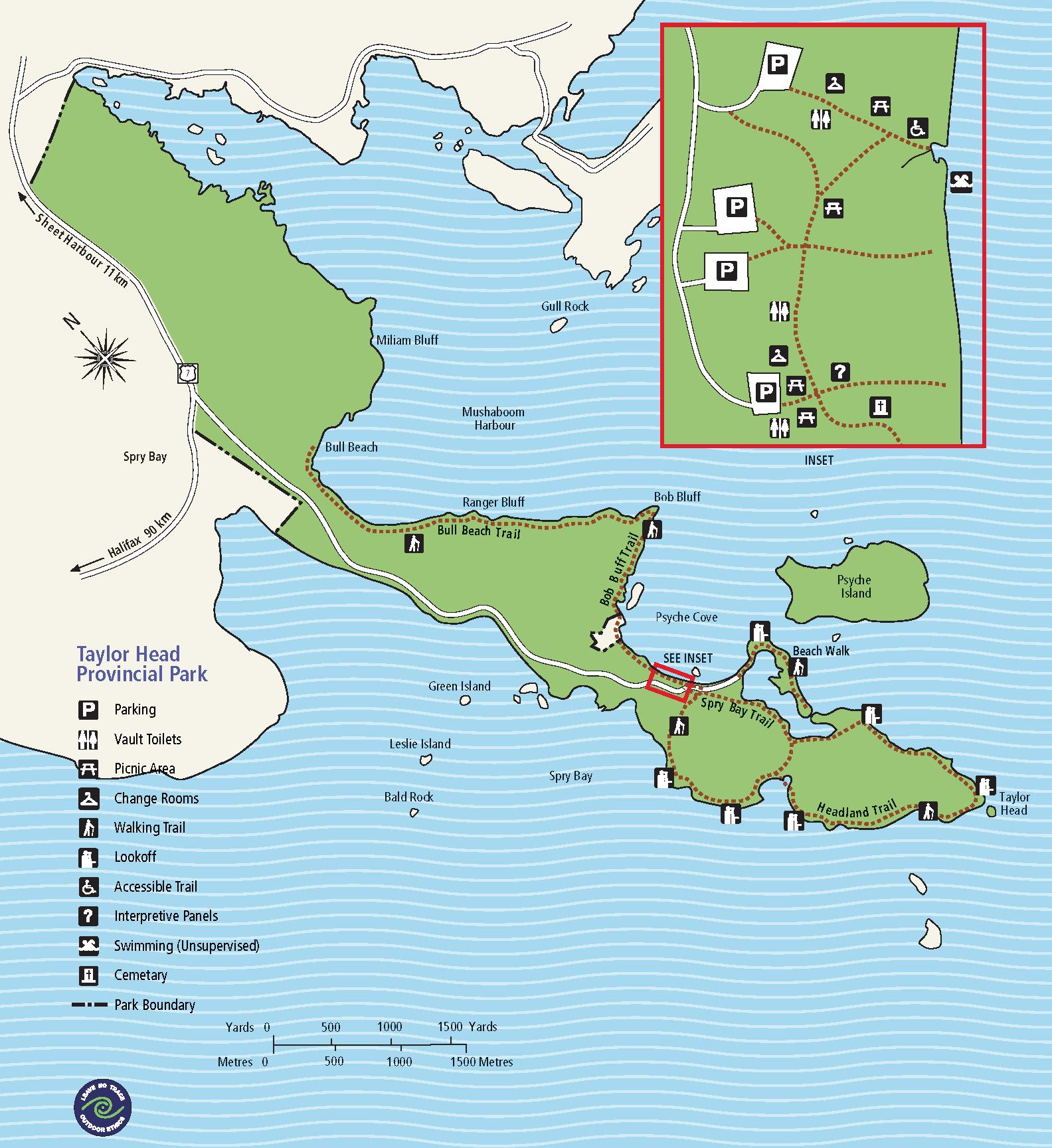 Park Map Friends of Taylor Head Provincial Park